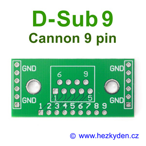 Adapter D-Sub9 Cannon 9pin