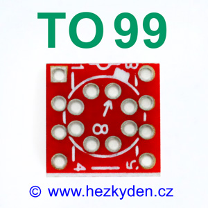 Adapter TO99 DIL8