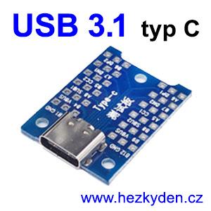 Adapter USB 3.1 typ C zásuvka