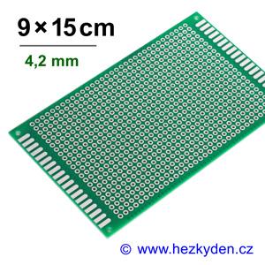 Bastldeska univerzální plošný spoj 9x15cm PROFI jednostranná - rozteč 4,2 mm