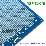 Bastldeska univerzální plošný spoj 10x15 cm PROFI jednostranná modrá SPECIAL