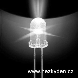 Bílá LED dioda 5mm supersvítivá