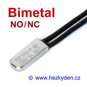 Bimetalový teplotní spínač KSD9700