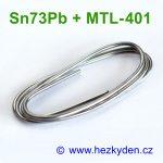 Cín - měkká pájka 2mm - Sn73Pb + MTL-401