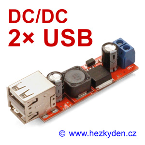 DC/DC snižující měnIč USB LM2596
