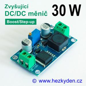 DC/DC měnič XL6019 zvyšující 30 watt