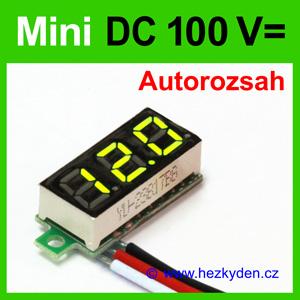 Digitální voltmetr LED modul mini 100V DC