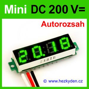 Digitální voltmetr LED modul mini 200V DC