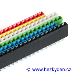Dutinková lišta 1x40 pin barevná