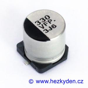 Elektrolyt 330µ 35V SMD