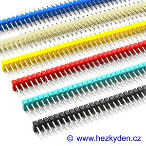 Jumperové kolíkové lišty barevné 2x40 pin