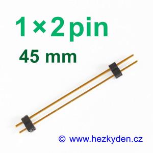 Jumperová lišta 1×2 pin vysoká 45 mm