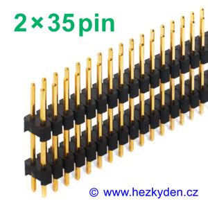 Jumperová lišta 2×35 pin vysoká