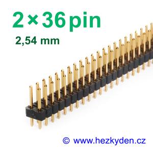 Jumperová lišta 2×36 pin