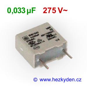 Fóliový kondenzátor 33nF 275Vac