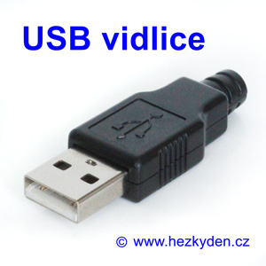 Konektor USB vidlice na kabel