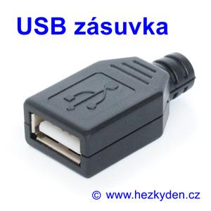 Konektor USB zásuvka na kabel
