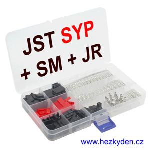 Konektory JST SYP + SM + JR univerzální sada
