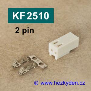 Konektory KF2510 krimpovací na kabel - 2 pin