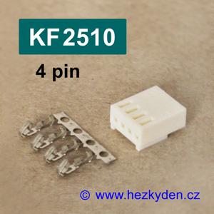 Konektory KF2510 krimpovací na kabel - 4 pin
