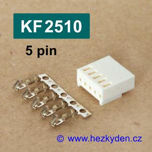 Konektory KF2510 krimpovací na kabel - 5 pin
