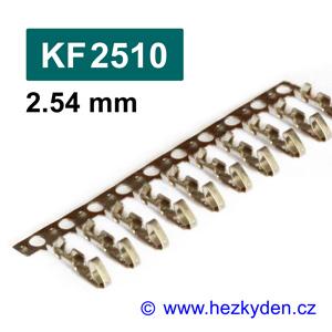 Konektory KF2510 krimpovací na kabel - piny