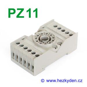 Objímka PZ11 pro relé R15 Relpol