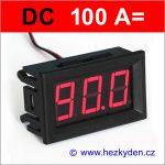 Panelový digitální ampérmetr LED - 3 místa - 100A DC