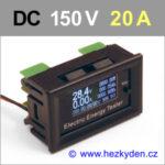 Panelový multifunkční měřák OLED 150V 20A