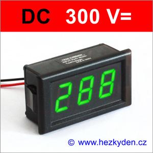 Panelový digitálni voltmetr LED 300V DC