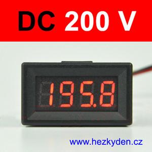 Panelový digitální voltmetr LED 4 místa Compact
