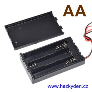 Pouzdro na tužkové baterie AA s vypínačem
