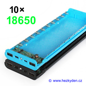 Powerbanka pro 10x Li-Ion 18650