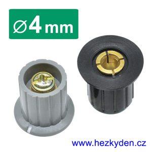 Přístrojový knoflík s pouzdrem 4mm