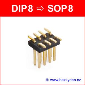 SMD reverzní adapter DIP8 SOP8 - kolíky