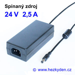 Spínaný zdroj adapter 24V 2,5A