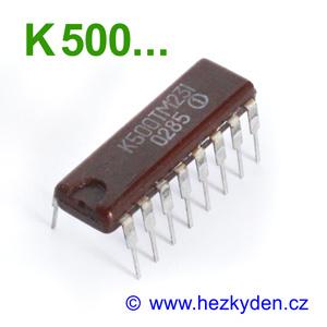 SSSR - ECL obvody - řada K500...