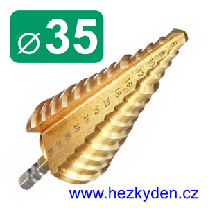 Stupňovitý vrták 35mm