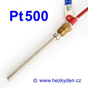 Teplotní senzor Pt500 s kabelem - dlouhý stonek