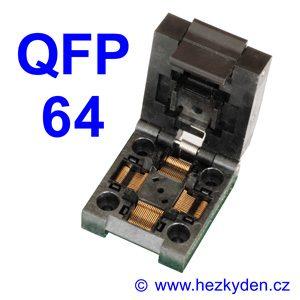 Test Socket SMD QFP 64 pin