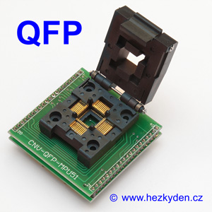 Test Socket SMD QFP 40-pin DPS
