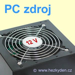 Upravený PC zdroj 12V DC